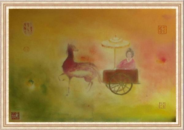 油畫《馬女情伴》.jpg