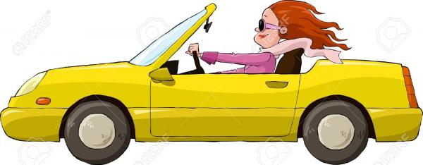 13233968-A-woman-in-a-yellow-car-vector-illustration-Stock-Vector-car-cartoon-convertible.jpg