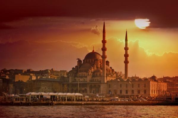 New mosque in sunset, istanbul, turkey_01.JPG
